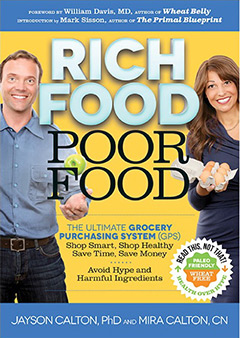 Grab a FREE copy of Rich Food Poor Food! <em>by Mira and Dr. Jayson Calton</em>
